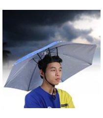 chapéu de guarda-chuva com touca de pesca, chapéu à prova de vento, para adolescentes adultos com pátio ao ar livre