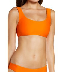 jade swim rounded edges bikini top, size x-small in nectar at nordstrom