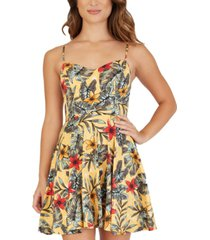bcx juniors' sweetheart-neck strappy-back dress