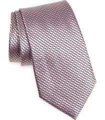 men's ermenegildo zegna dash silk tie, size one size - pink
