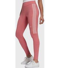 leggings adidas originals tights rosa - calce ajustado