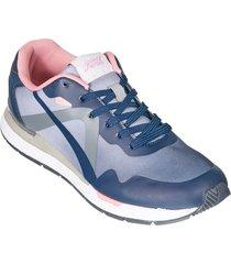 zapatos jogger aeroflex negro rosado md9029