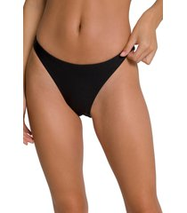 plus size women's good american better reversible bikini bottoms, size 8 - black