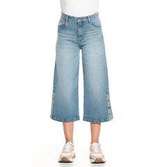 jean culotte azul oscuro