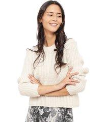 sweater only fiona crudo - calce holgado