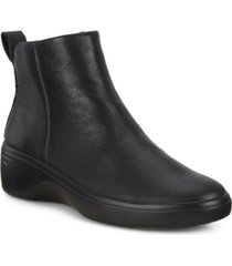 ecco women's soft 7 wedge city booties women's shoes