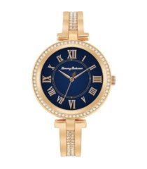 tommy bahama women's palm beach gold-tone stainless steel bangle watch, 36mm