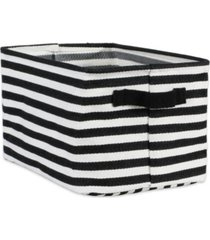 design imports polyethylene coated herringbone woven cotton laundry bin stripe rectangle medium set of 2