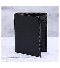 leather card holder wallet, 'reliable black' (india)