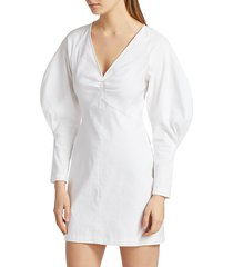 a.l.c. women's aila puff-sleeve mini dress - gesso - size 12