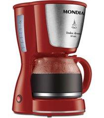 cafeteira elétrica mondial dolce arome inox 32 xícaras c-32-32x-r vermelha