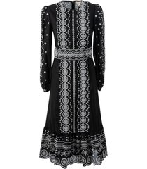 michael michael kors eyelet embroidered midi dress