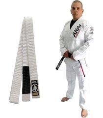 kimono jiu jitsu akai bjj trançado + faixa branca