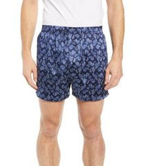 men's majestic international sapphire silk boxers, size xx-large - blue