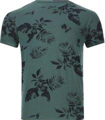 camiseta hombre hojas color verde, talla xs