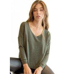 sweater italy verde militar racaventura