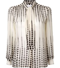 giambattista valli relaxed polka-dot blouse - neutrals