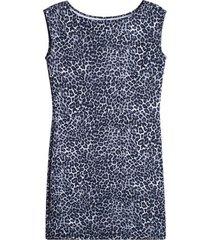 vestido animal print color gris, talla 8