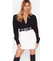womens be with you in a mini denim skirt - white
