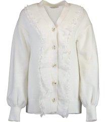 white peony cardigan
