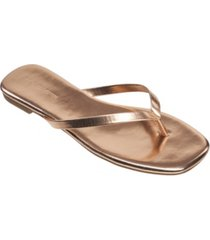 french connection women's morgan flat open toe thong flip flop sandals women's shoes