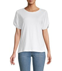 saks fifth avenue women's roundneck short-sleeve top - quartz rose - size s