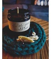 świeca z wosku pszczelego 180 ml. naturalna