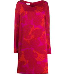 escada sport leaf print jumper dress - red