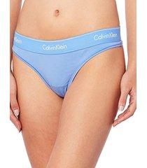 panties tanga modern cotton azul calvin klein