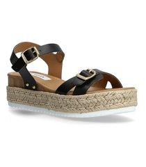 cam sandal sandaletter expadrilles låga svart steve madden