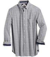 joseph abboud gray check cotton & cashmere classic fit sport shirt