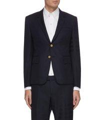 four bar tailored twill blazer