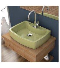 cuba de apoio p/banheiro compace aria rt50w retangular verde acqua