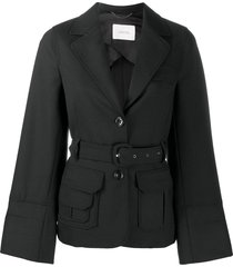 dorothee schumacher belted raglan sleeve jacket - black