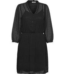 ayella 3/4 dress kort klänning svart moss copenhagen