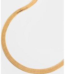beverly large snake chain necklace - gold