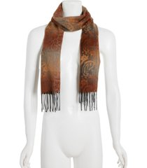 steve madden mid weight ombre paisley muffler scarf