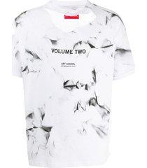 art school volume two print t-shirt - white
