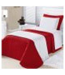 kit cobre leito solteiro 02 peças montreal vermelho - vilela
