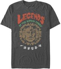 nickelodeon men's legends of the hidden temple big face logo short sleeve t-shirt