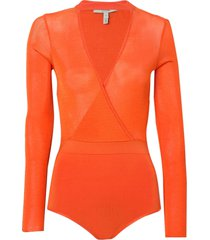 body rosa chá estela i tricot laranja feminino (flame, gg)