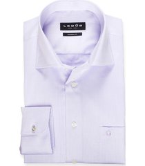 ledub overhemd lavendel effen modern fit non iron