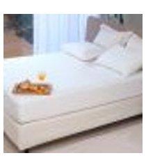 capa protetora colchão casal queen impermeável malha 100% algodão