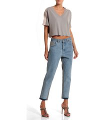 calca rosa chá blenda jeans azul feminina (jeans claro, 50)