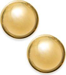 14k gold earrings, 12mm domed ball stud earrings