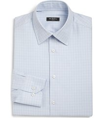 regular-fit windowpane check dress shirt