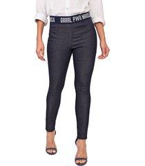calça jeans morena rosa jegging amanda azul-marinho - kanui