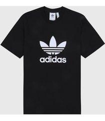 camiseta negro-blanco adidas originals classics trefoil