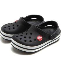babuche crocs menino perfuros preto
