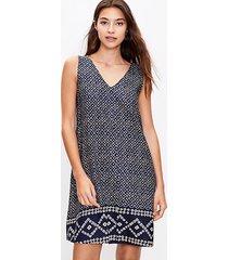 loft border mosaic pocket swing dress